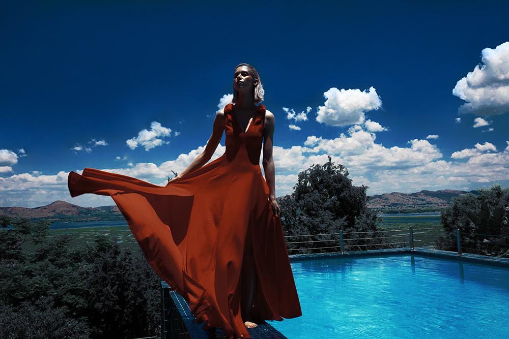 Erre Fashion red dress
