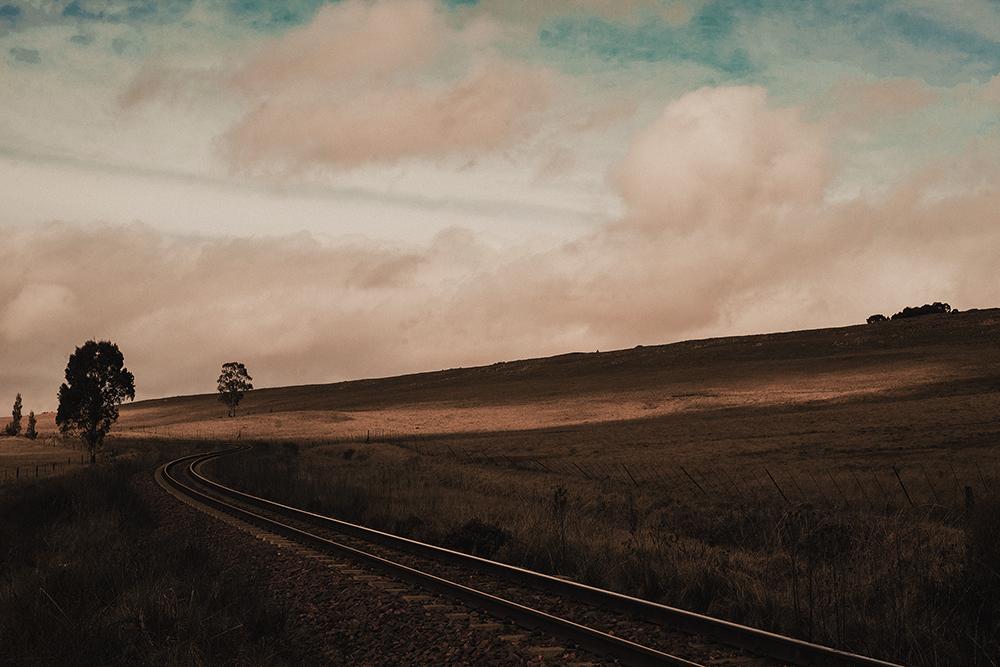 Rail track landscape