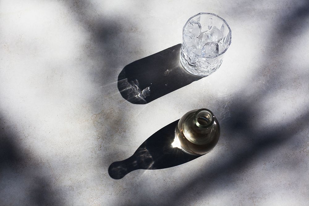 Drinks photography with a shadow