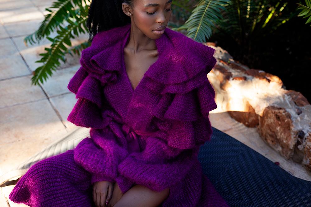 Erre knitwear in purple