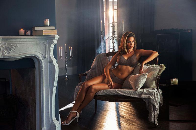 Backlight lingerie portrait