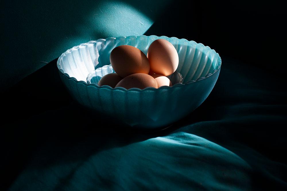 Duinhuis Eggs on the chair