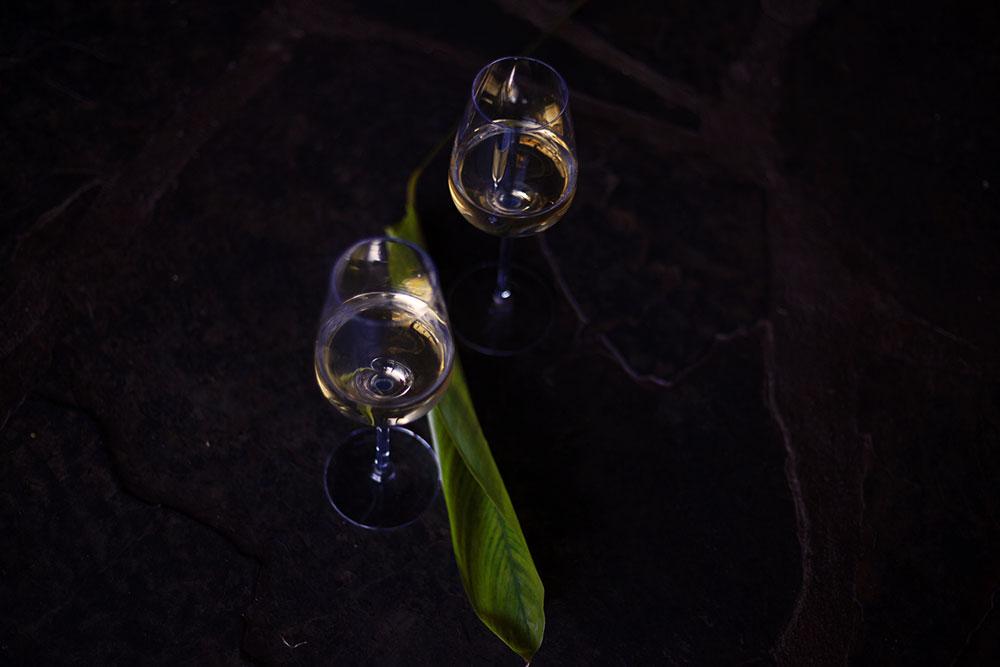 White wine in Moody Light